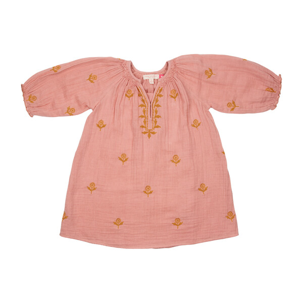 Ava Dress, Mellow Rose w/ Embroidery