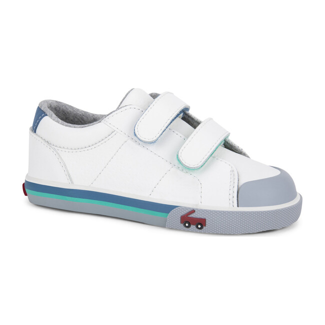 Waylon Velcro Sneaker, White Leather