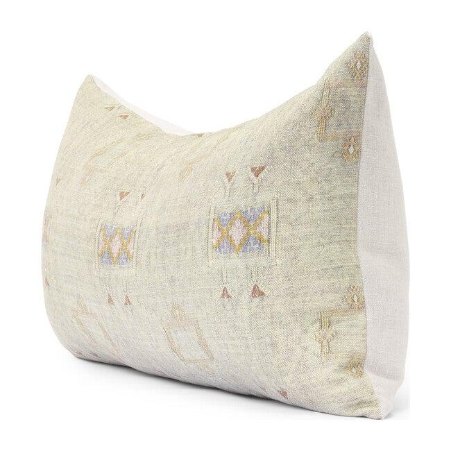 Cactus Silk Lumbar Pillow, Iris