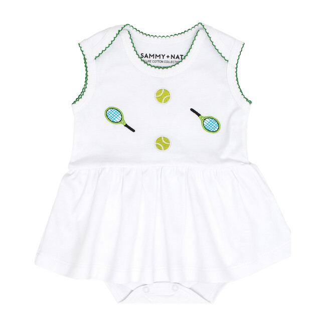 The Embroidrered Riley Romper, Tennis