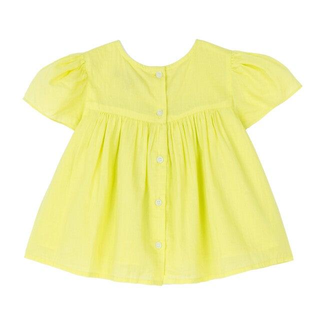 Juniper Top, Neon Yellow Voile