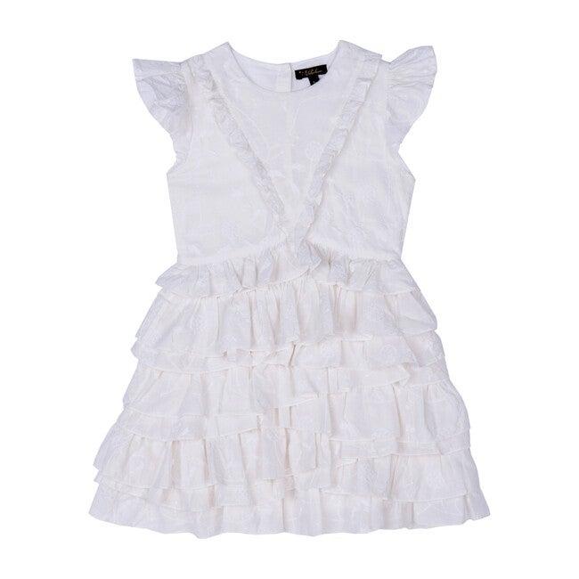 Geena Dress, White Schiffli