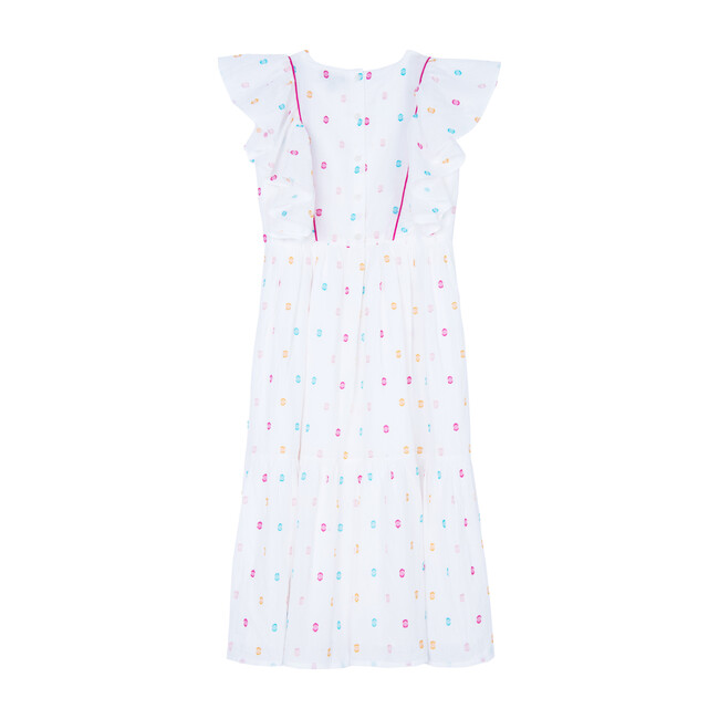 Monica Dress, Multi Dot Dobby