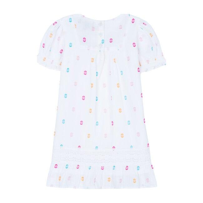 Vanessa Dress, Multi Dot Dobby