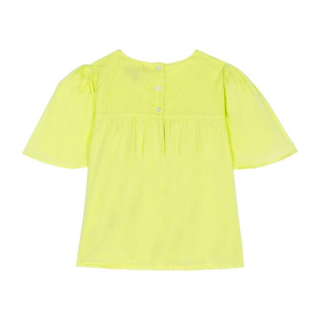 Asha Top, Neon Yellow Voile