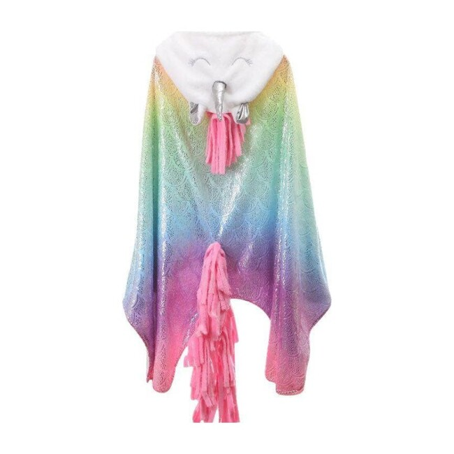 Rainbow Unicorn Cape Blanket, Multi