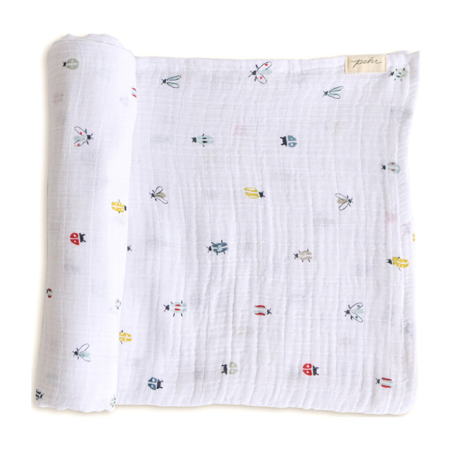 Love Bug Organic Cotton Swaddle