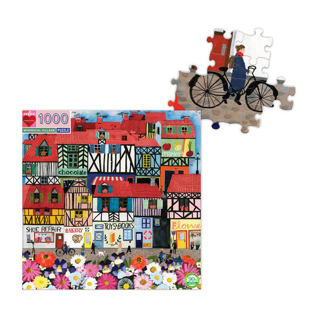 Whimsical Village 1000-Piece Puzzle