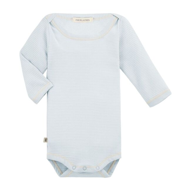 Classic Layette Long Sleeved Baby Bodysuit, Blue