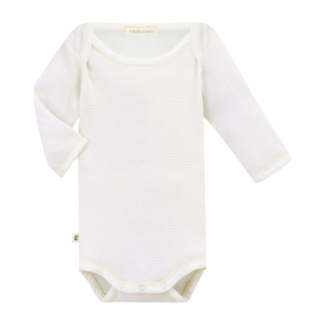Classic Layette Long Sleeved Baby Bodysuit, White