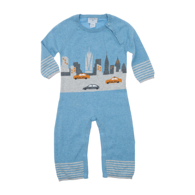 New York City Cotton Cashmere Coverall, Blue