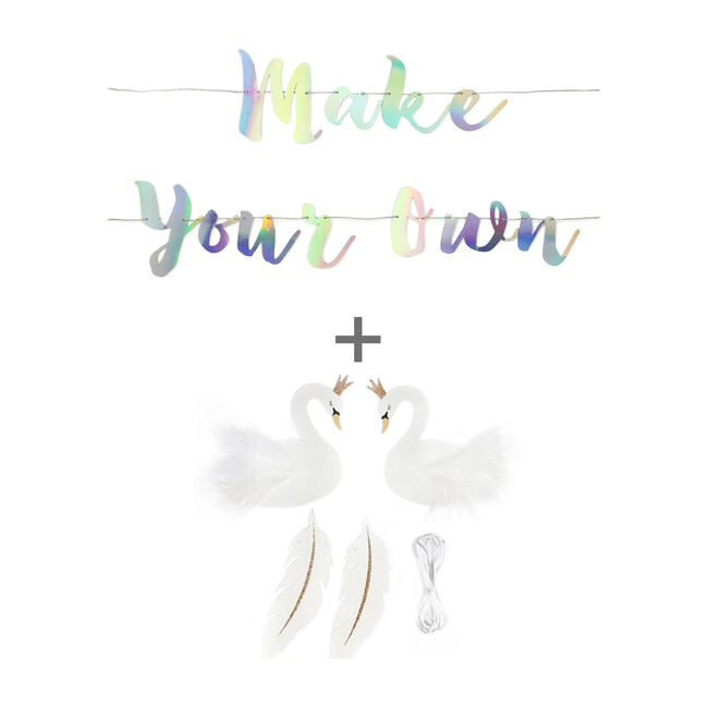 Swan Princess Make Your Own Banner, Iridescent