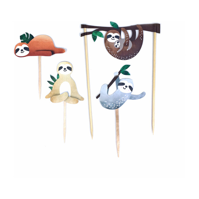 Sloth Party Cupcake Toppers