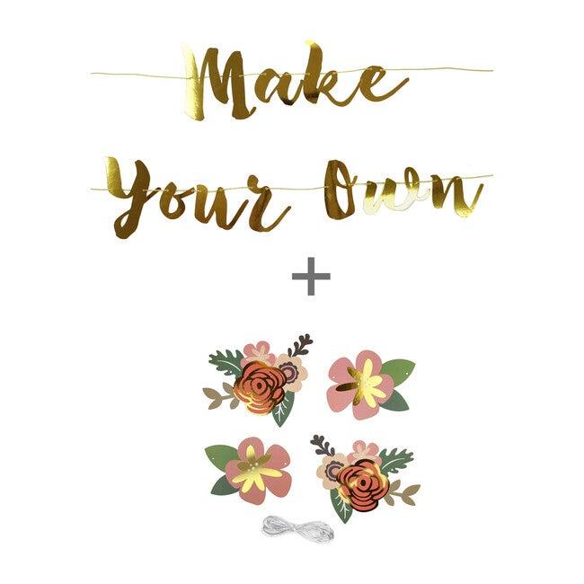 Flower Make Your Own Banner, Gold