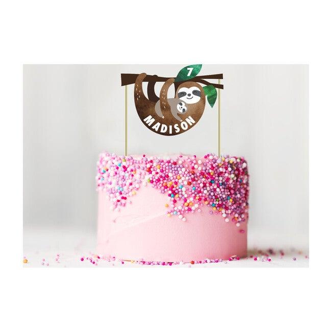 Sloth Party Custom Cake Topper