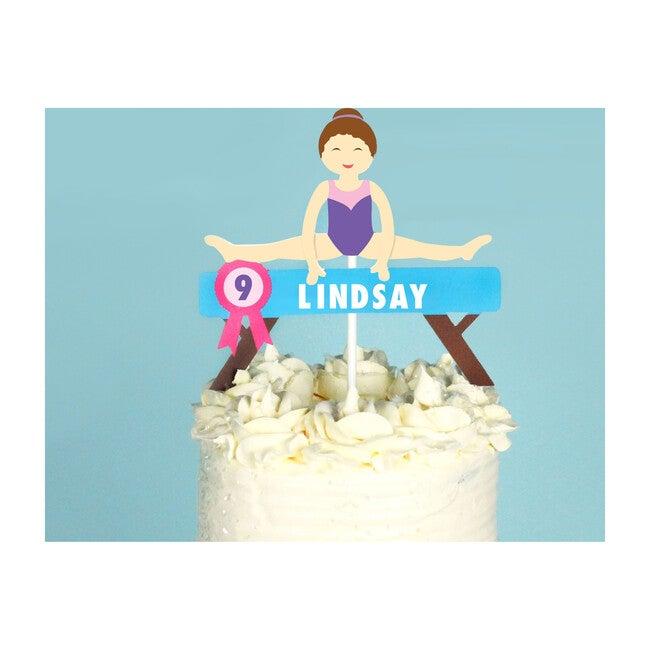 Gymnastics Party Custom Cake Topper