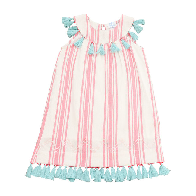 Katrina Tassel Dress, Fandango Pink Stripe