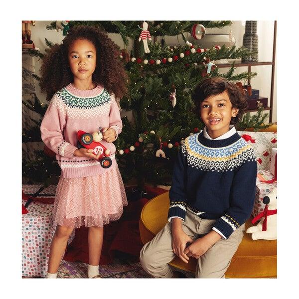 Anderson Fairisle Sweater, Navy Multi