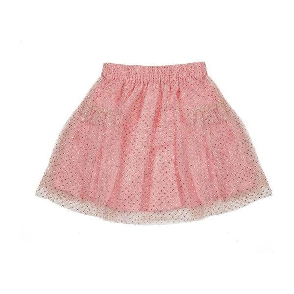 Nora Glitter Tulle Party Skirt, Rose Gold