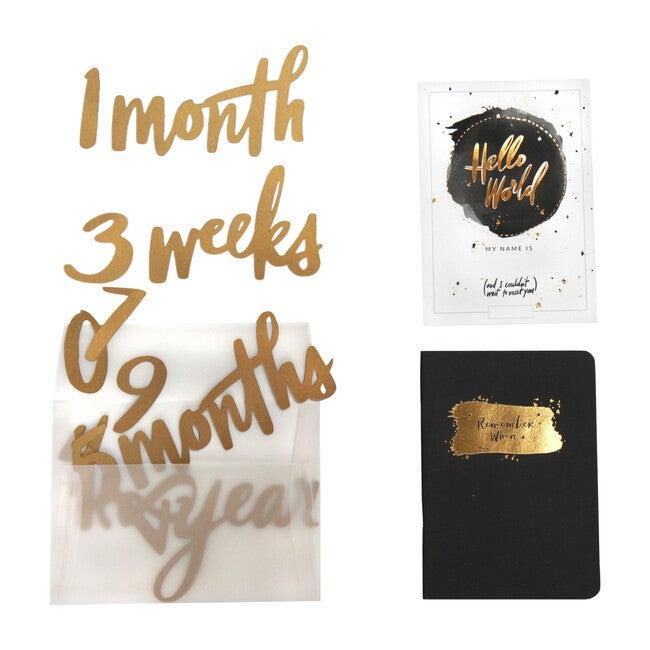 Milestone Numbers & Memory Book, Gold - Paper Goods - 1