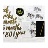 Milestone Numbers & Memory Book, Gold - Paper Goods - 3