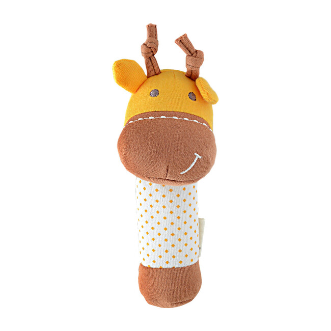 Organic Cotton Rattle - Lola the Giraffe