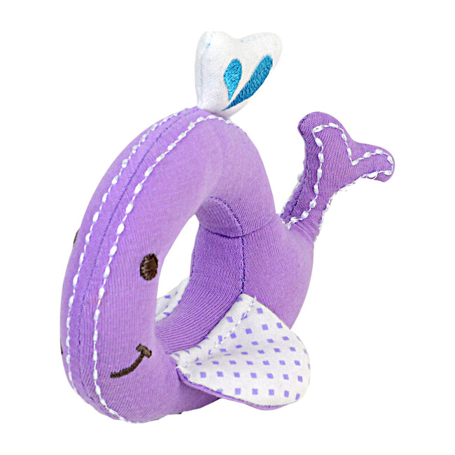 Organic Cotton Rattle - Willo the Whale