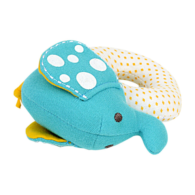 Organic Cotton Rattle - Ollie the Elephant