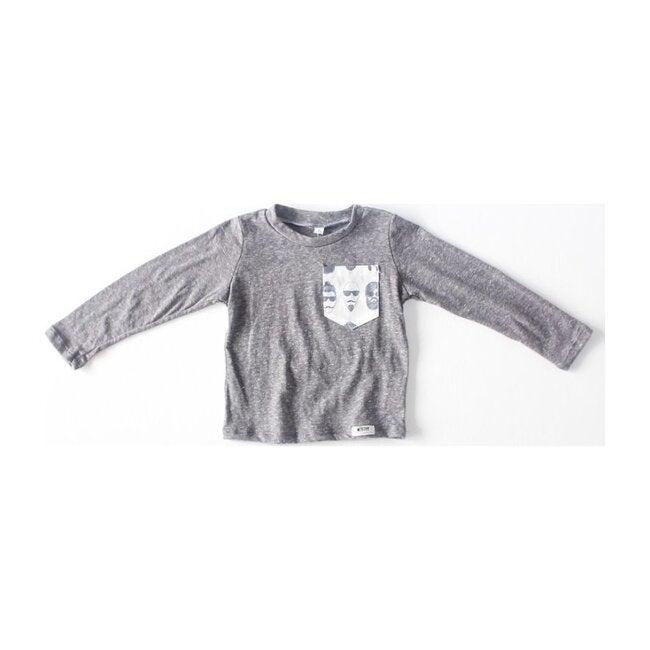 Long Sleeve Tee, Grey Beatnik - Tees - 1