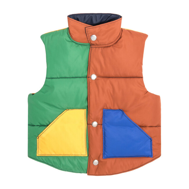 Adult Emery Color Blocked Vest, Caramel Multi