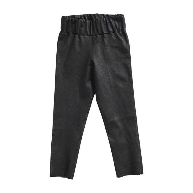 Leather Leggings, Black