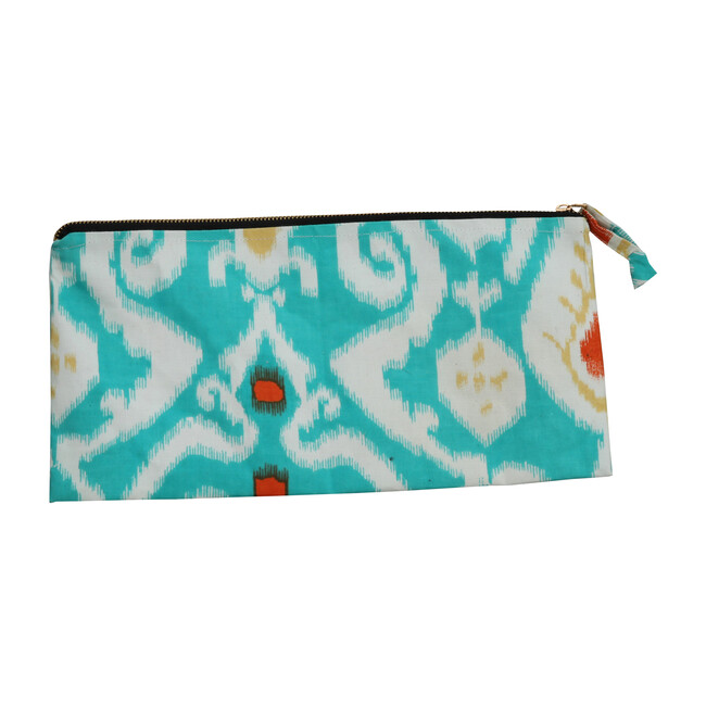 *Exclusive* Ikat Beach Clutch, Turquoise