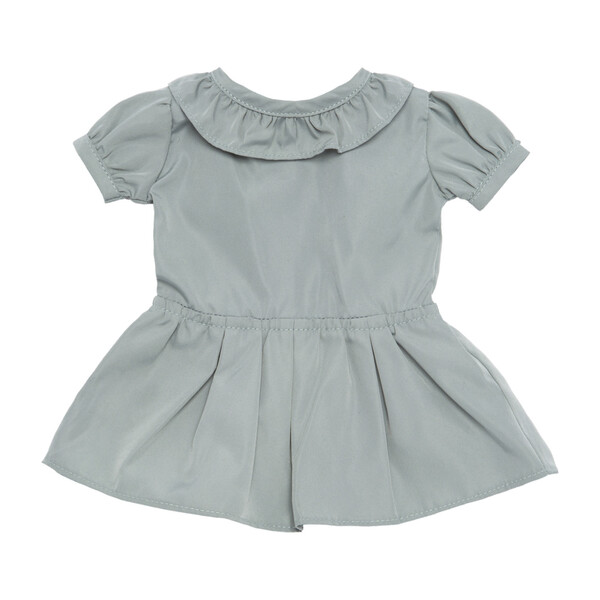 Blake Taffeta Doll Dress with Back Bow, Slate Blue