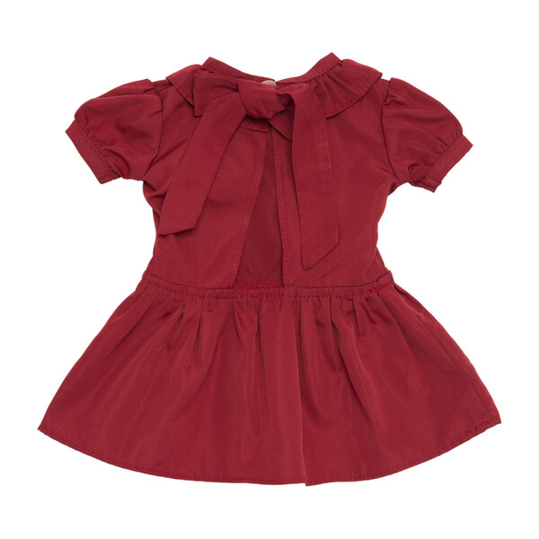 Blake Taffeta Doll Dress with Back Bow, Scarlett Red