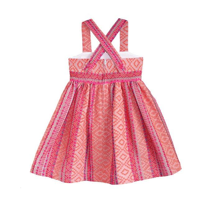 Woven Textile Dress, Neon