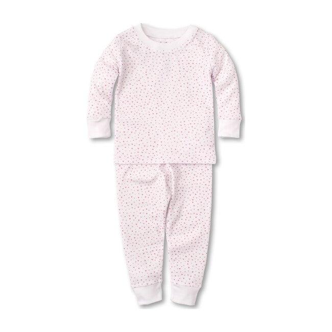 Sweathearts Infant Pajama Set, White & Pink