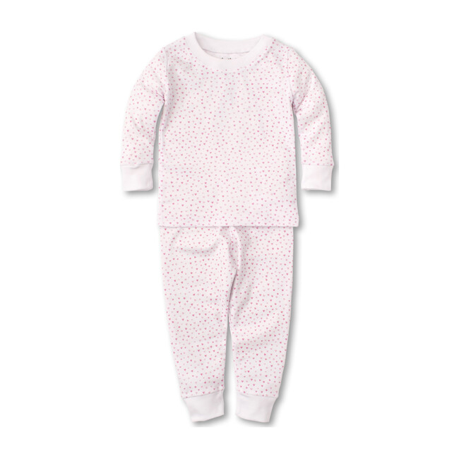 Sweathearts Toddler Pajama Set, White & Pink