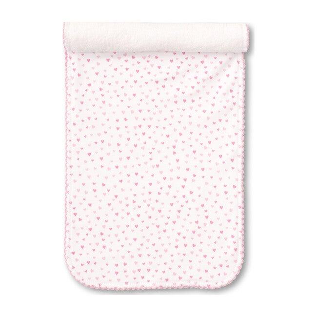 Sweeyhearts Burp Cloth, White & Pink