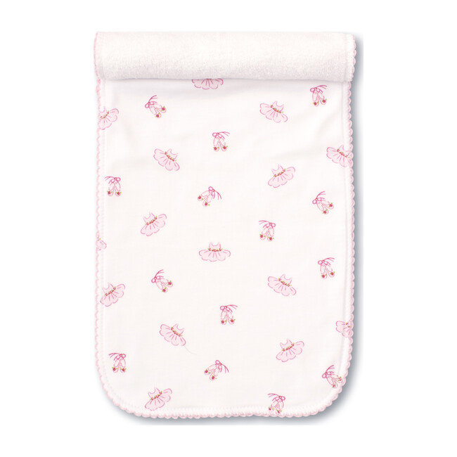 Ballet Slippers Burp Cloth, Pink