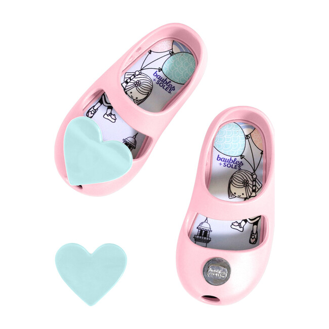 Kaia Shoe, Rose with Turquoise Heart