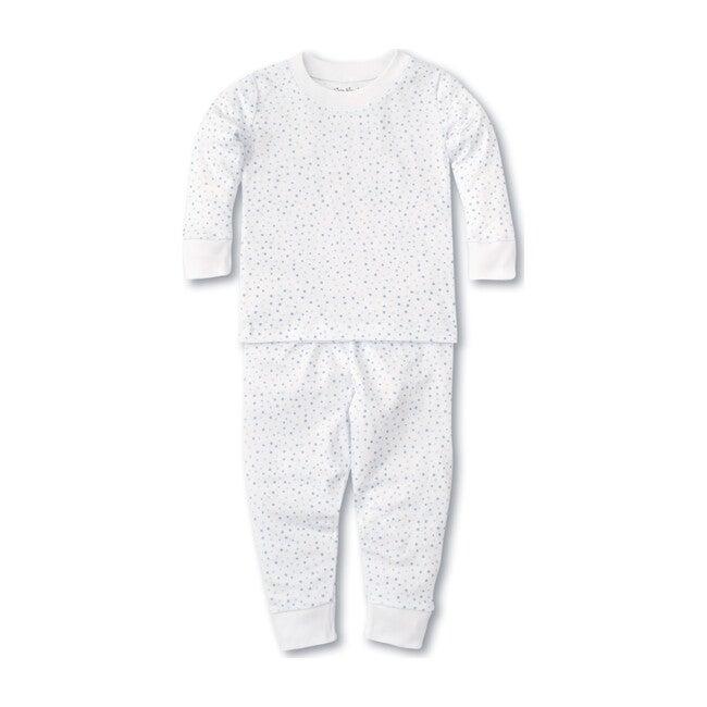 Infant Pajama Set, White & Blue