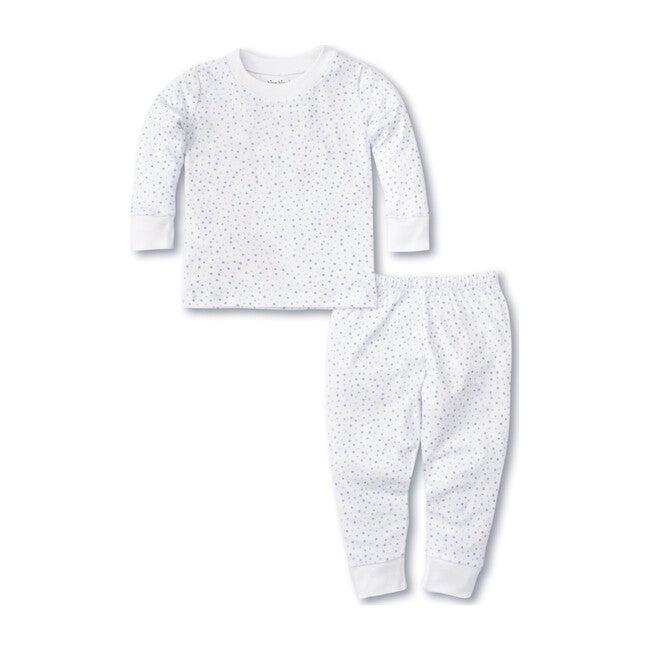 Toddler Pajama Set, White & Blue