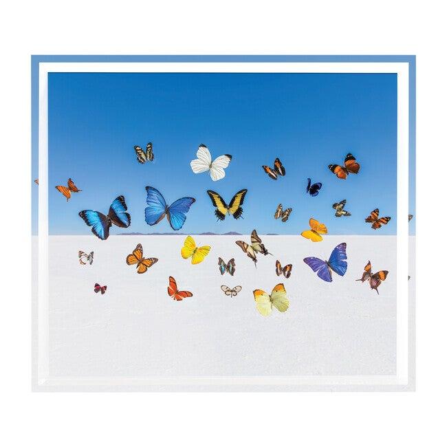 "The Butterflies Tray, 15"" x 17"""