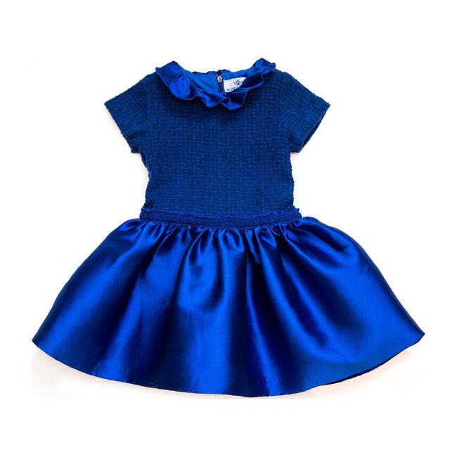 Arianna Ruffle Dress, Blue
