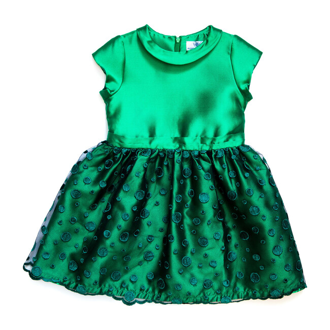 Silk Nancy Dress, Green