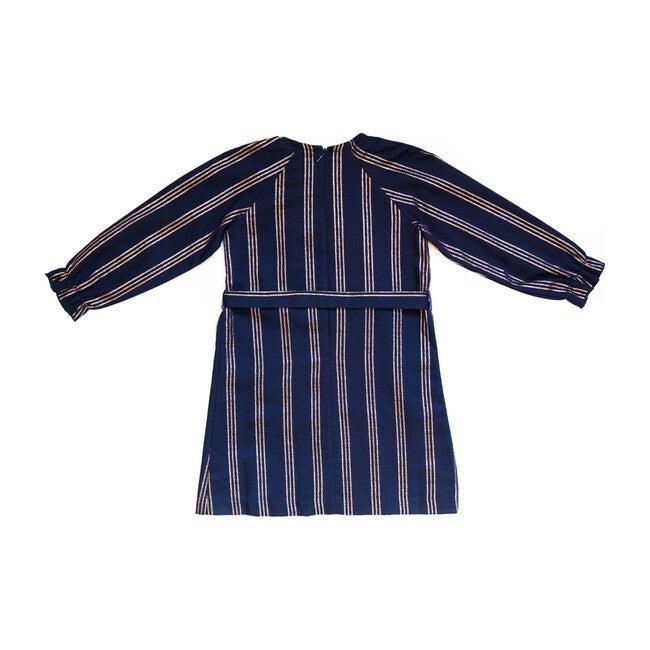 Striped Jackie Dress, Navy