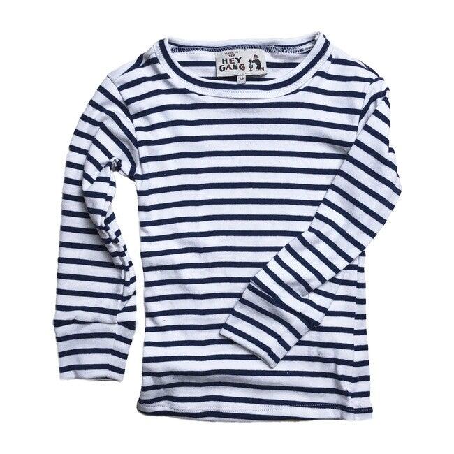 Long John Shirt, Navy Stripe