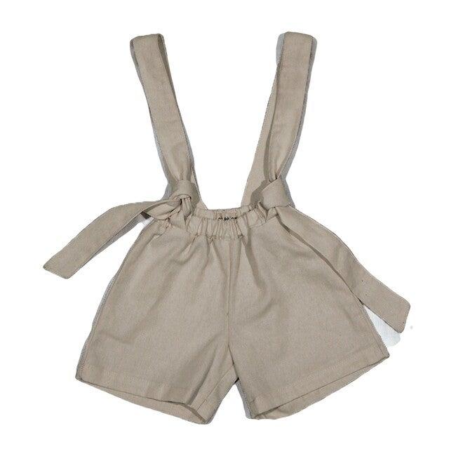 Diego Cotton Shorts, Greige