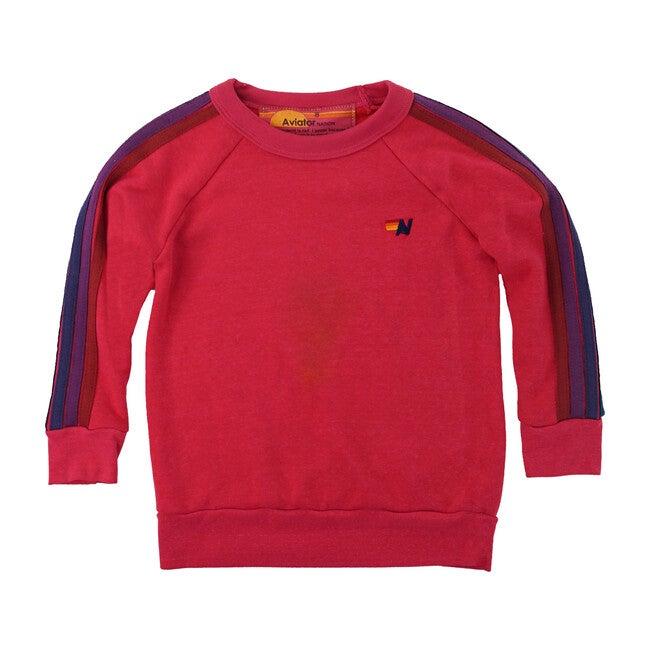Classic Crew Sweatshirt, Rose and Purple