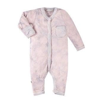 Classic Layette Tie Dye Romper, Pink